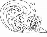 Tsunami Coloring Waves Wave Clipart Drawing Clip Line Ocean Cartoon Paint Computer Illustration Island Computerclipart Acclaimimages Sketch Flooding Tropical 1005 sketch template