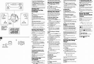 Sony Icf C630 User Manual Operating Instructions Icfc630