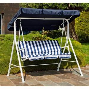 Hevea balancelle de jardin bleu 2 3 places achat for Image balancelle jardin 2