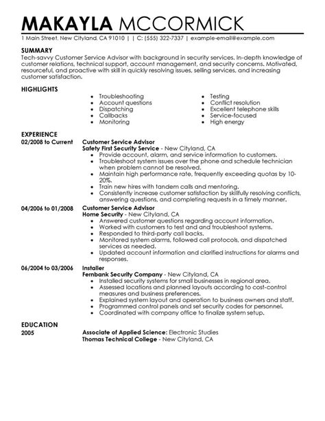 Financial Services Cover Letter Best Emergency Services Customer Service Advisor Resume Exle Livecareer