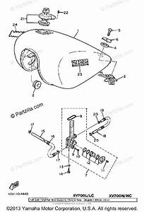 Yamaha Motorcycle 1985 Oem Parts Diagram For Fuel Tank 49