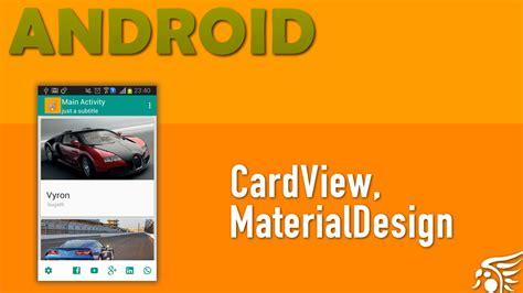 utilizando cardview material design android parte