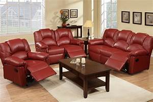 Leather sofas living room burgundy reclining sofa set for Burgundy leather sofa bed