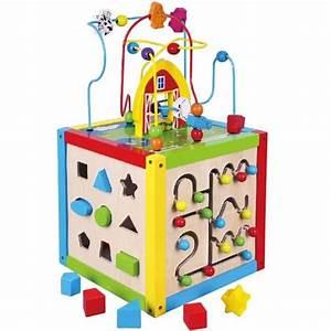Cube En Bois Bébé : jeu educatif pour enfant a partir de 18 mois achat vente jeux et jouets pas chers ~ Melissatoandfro.com Idées de Décoration