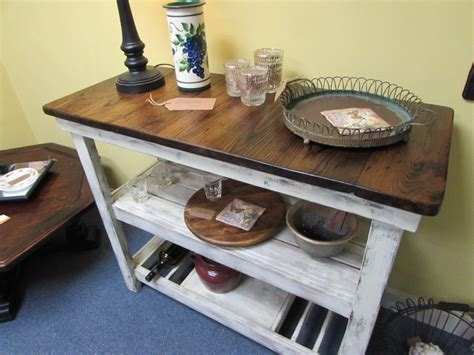 Handmade Rustic Wine Bar Buffet Tables Just Fine Tables