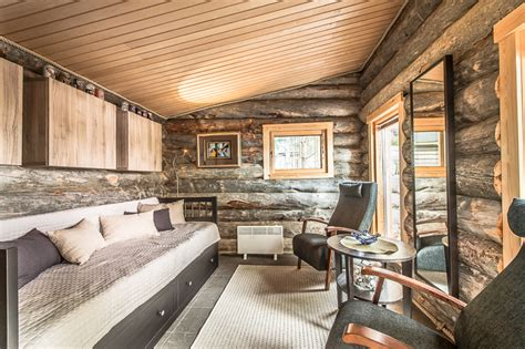 luxury log cabin  finland