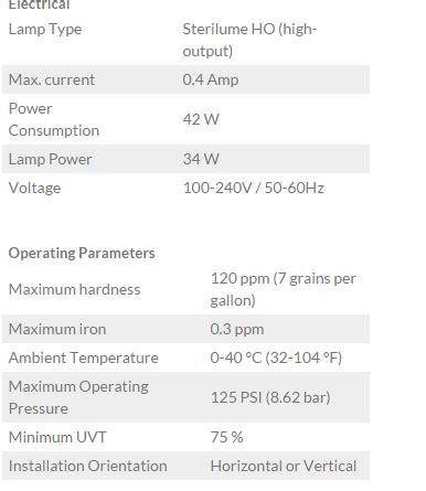 harga ultraviolet water sterilizer merek uv sterilight sc 320 13 gpm jual lu uv dan uv