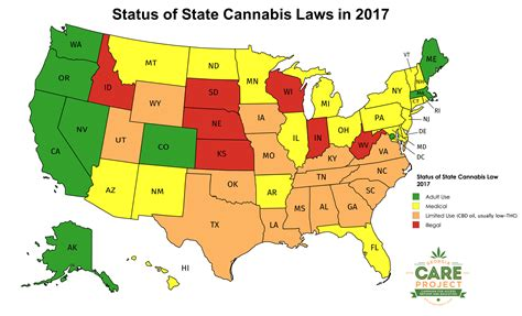 2017 map of us state cannabis laws care project