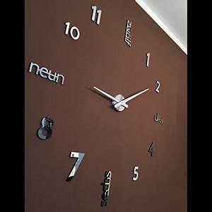 Designer Wanduhren Wohnzimmer : xxl 3d schwarze designer wanduhr von onetime wanduhren shop24 ~ Whattoseeinmadrid.com Haus und Dekorationen