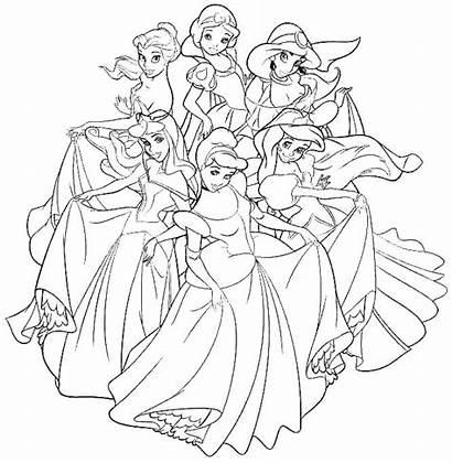 Coloring Disney Pages Princesses Princess Jasmine Printable