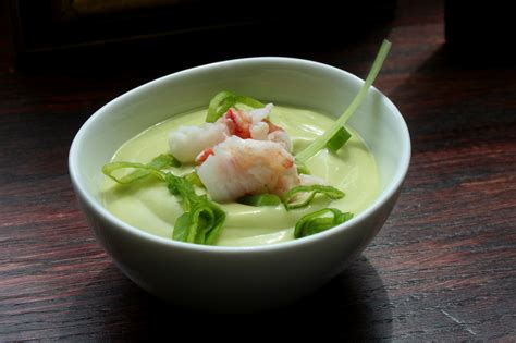 cold avocado soup cold avocado soup with lobster and scallions recipe on food52