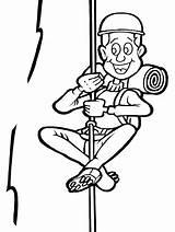 Coloring Climber Homem Rapel Fazendo Bergsteiger Mountain Circ Sport Colorat Malvorlage Kletterer Sportarten Disegno Teamwork Verschiedene Desenho Imagine Imprimanta Scos sketch template