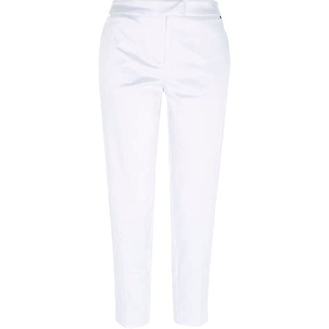 White Satin Pants fashjourneycom