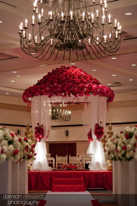 indian wedding altar the mandap stage was created with