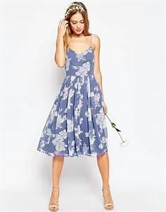 image 1 of asos wedding rose print midi dress dress to With midi dresses for weddings