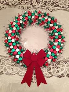 Hershey Kiss Wreath Holiday Crafts Pinterest