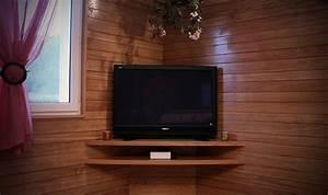 Etagere Murale Pour Tv : etagere d 39 angle pour television ~ Teatrodelosmanantiales.com Idées de Décoration