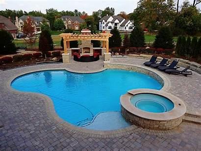 Pool Spa Backyard Luxury Suburban Feb Hosting