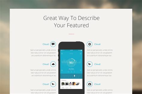 One Adobe Muse Theme Website Templates Creative Market One Page Mobile App Muse Template Website Templates On