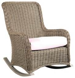 hauser coastal all weather wicker rocking chair with cushion traditional outdoor rocking