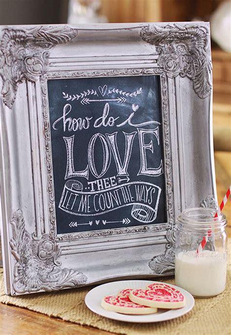 romantic chalkboard ideas  valentines day home