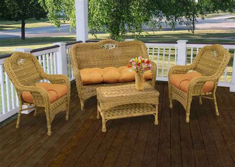 modern white wicker outdoor furniture vintage