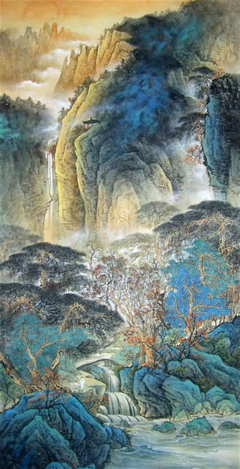 chinese mountain  water painting  cm  cm