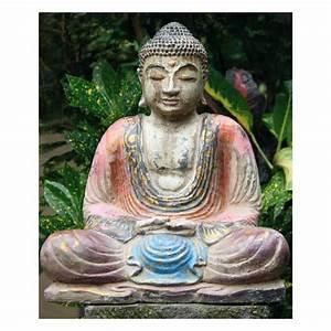 Buddha Figuren Garten Günstig : sitzender buddha bemalter steinguss antik finish figuren skulpturen garten japanwelt ~ Bigdaddyawards.com Haus und Dekorationen