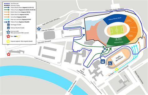 Ingresso Tribuna Monte Mario by Come Arrivare Allo Stadio Olimpico