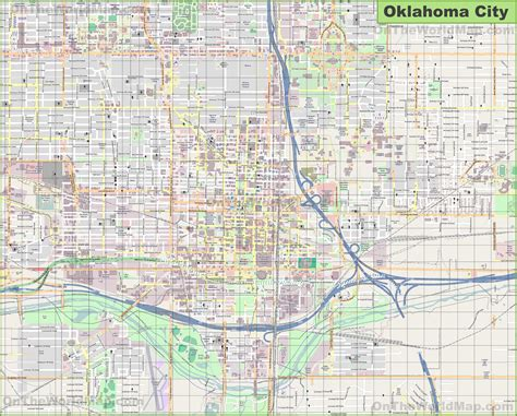 large detailed map  oklahoma city