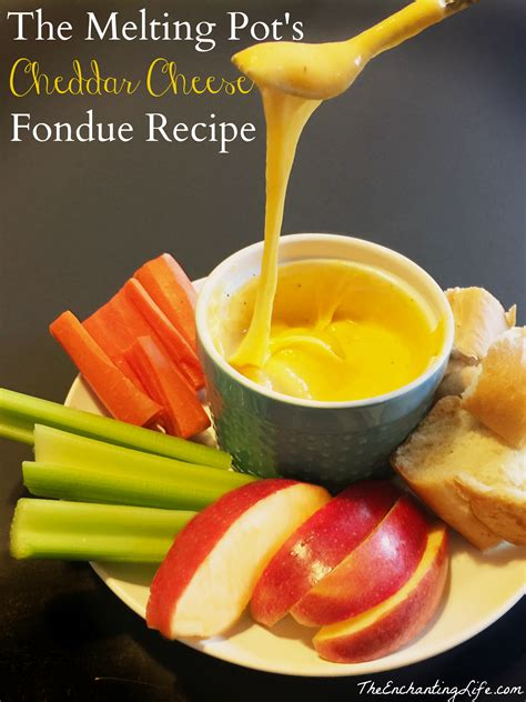 the melting pot s cheddar cheese fondue recipe