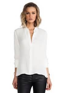 White Silk Blouses Women