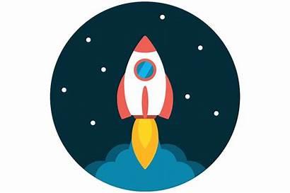 Launch Rocket Icon Flat Planetario Creativemarket Cpa