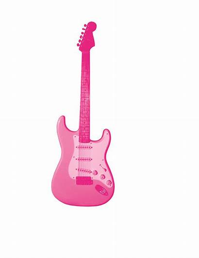 Clipart Guitar Clip Rock Pink Electric 80s
