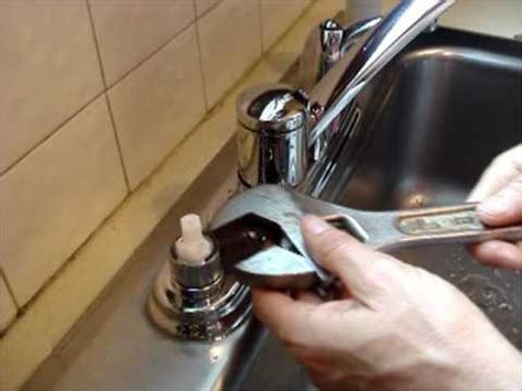 replace  moen kitchen faucet cartridge youtube
