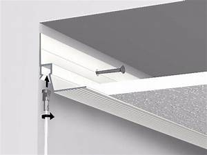 Rail Faux Plafond : cimaises ceiling strip rail 300 cm faux plafond artiteq ~ Mglfilm.com Idées de Décoration