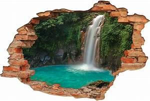Image Trompe L Oeil : stickers trompe l 39 oeil 3d cascade 6 pas cher ~ Melissatoandfro.com Idées de Décoration