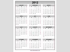 2012 calendar 2018 Calendar printable for Free Download