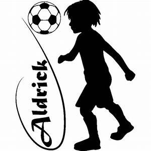 But Foot Enfant : sticker personnalisable silhouette enfant jouant au foot stickers sports et football ~ Teatrodelosmanantiales.com Idées de Décoration