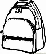 Backpack Coloring Bag Pages Printable Coloringpages101 Getcolorings sketch template