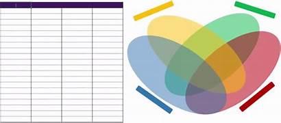 Venn Diagram Template Diagrams Drawing Excel Flower
