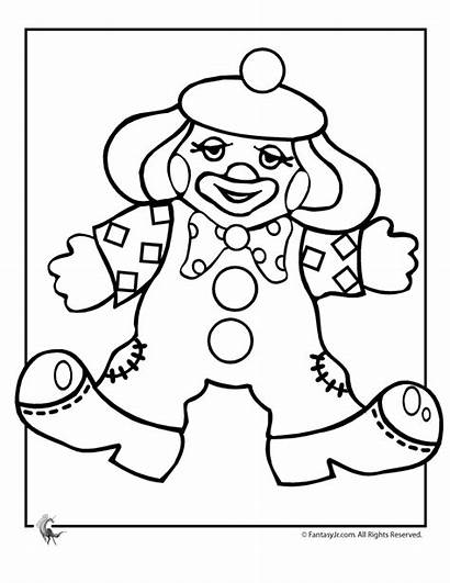 Clown Coloring Pages Clowns Printable Colouring Sheets
