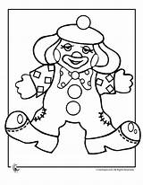 Clown Coloring Pages Clowns Printable Print Colouring Sheets Template Printer Gangster Circus Cream Send Button Special Only Halloween Popular Coloringtop sketch template