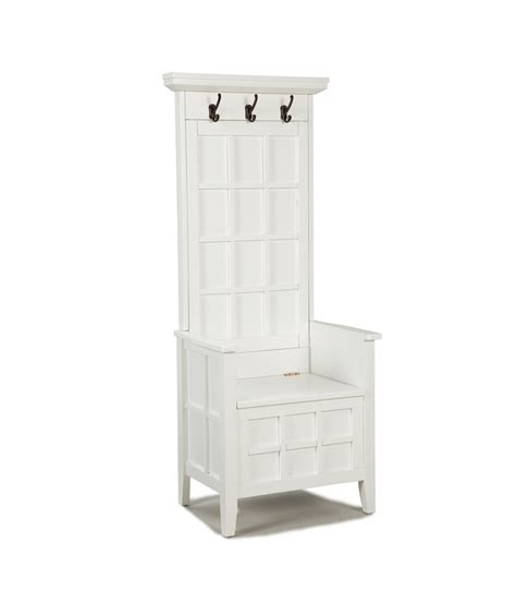 Home Styles Mini Hall Tree And Storage Bench  White 88