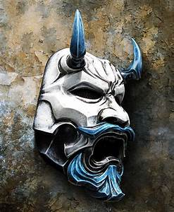 Uncle Oni Mask 311 - Japanese Noh Style Fiberglass Art ...