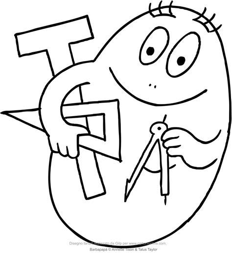 disegni da colo disegno di barbabravo lo scienziato dei barbapap 224 da colorare