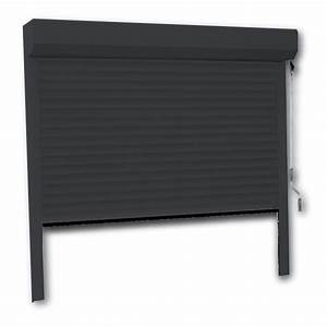 porte de garage enroulable 240 x 200 couleur ral 7016 With porte de garage enroulable et porte interieur 90 cm
