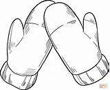 Coloring Mittens sketch template