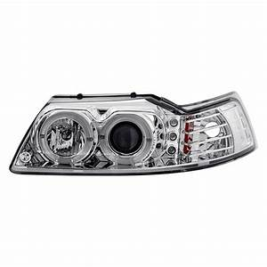 Lumen® - Ford Mustang 2003 Chrome Halo Projector LED Headlights