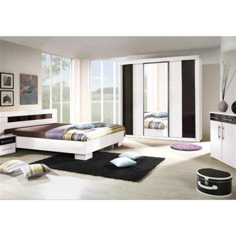 cdiscount chambre a coucher chambre à coucher complète dublin adulte design blanche